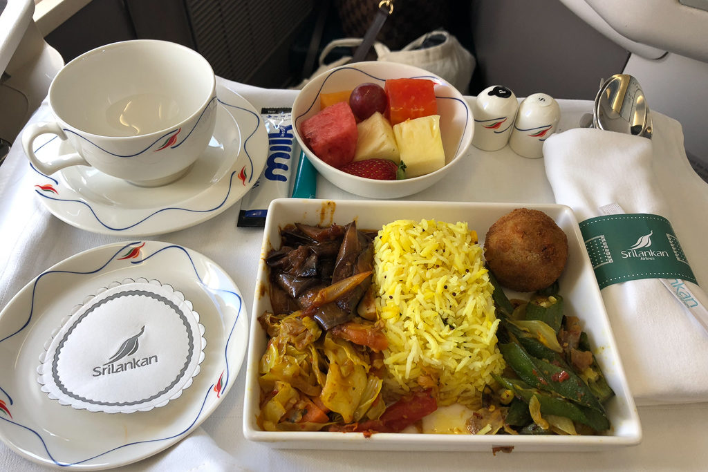 Food and Service at SriLankan Airlines Business Class Review - Photo by Outside Suburbia