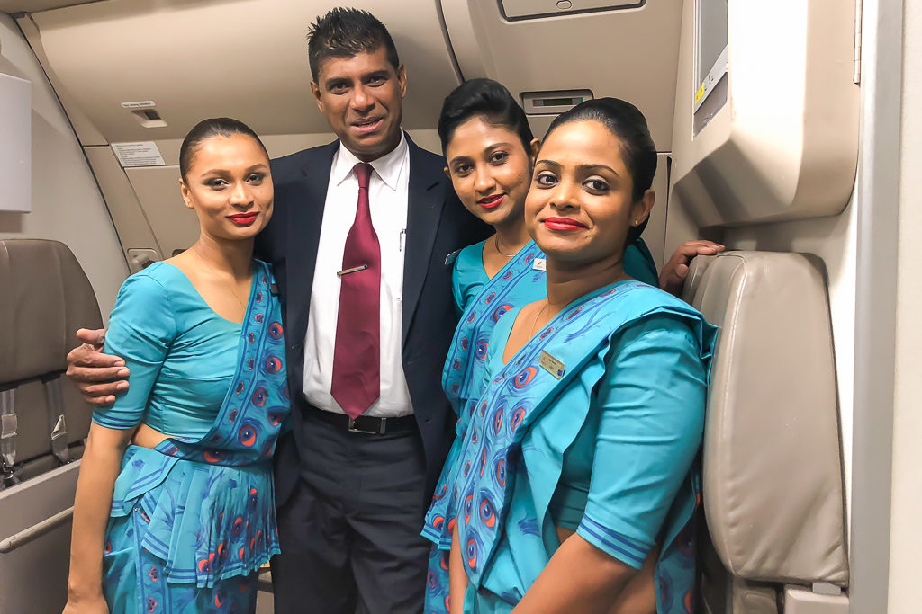Staff at SriLankan Airlines Business Class Review - Photo by Outside Suburbia