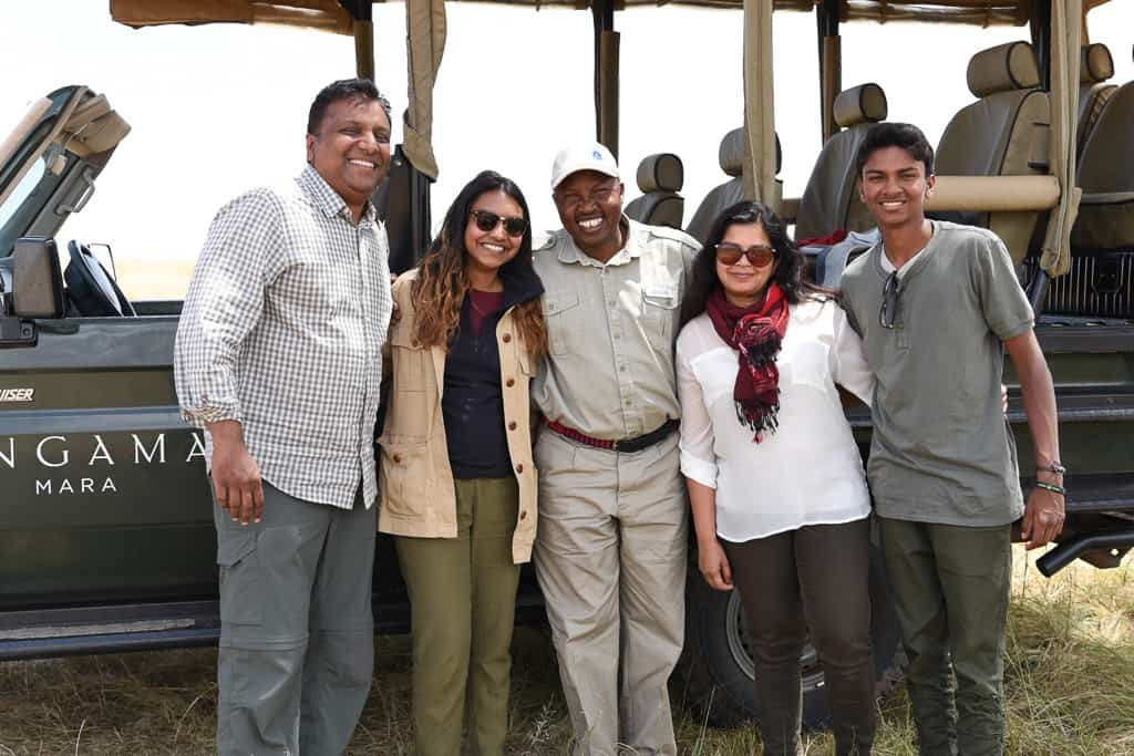 With Wilson our Safari guide - Luxury Family Safari Experience at Angama Mara, Kenya Photo by Outside Suburbia