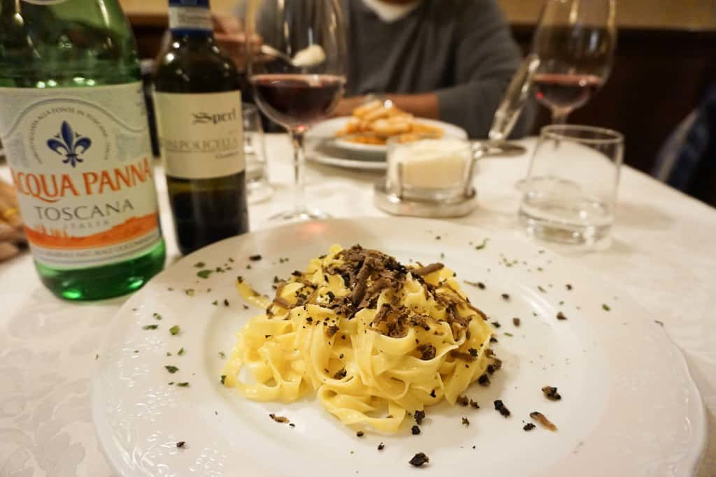 Northern Italy in November - Pasta with truffles Photo by OutsideSuburbia.com
