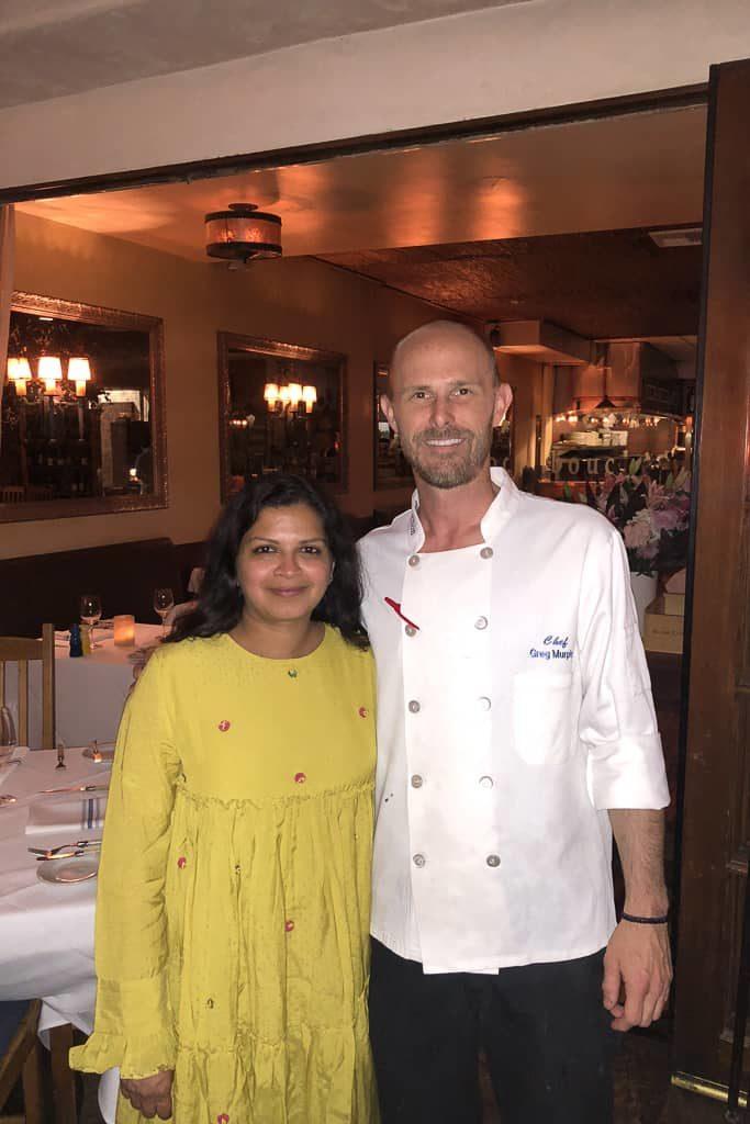 With Chef Murphy at Bouchon, Santa Barbara, California
