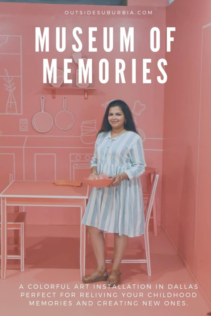 Museum of Memories is a colorful, creative and interactive art installation popup in Dallas filled with rooms in pretty colors, oversized props, and pieces.