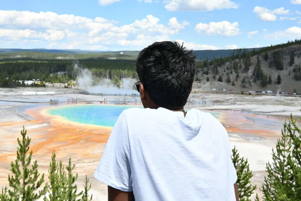 Midway Geyser Basin viewpoint - top thing to do in Yellowstone -  OutsideSuburbia.com