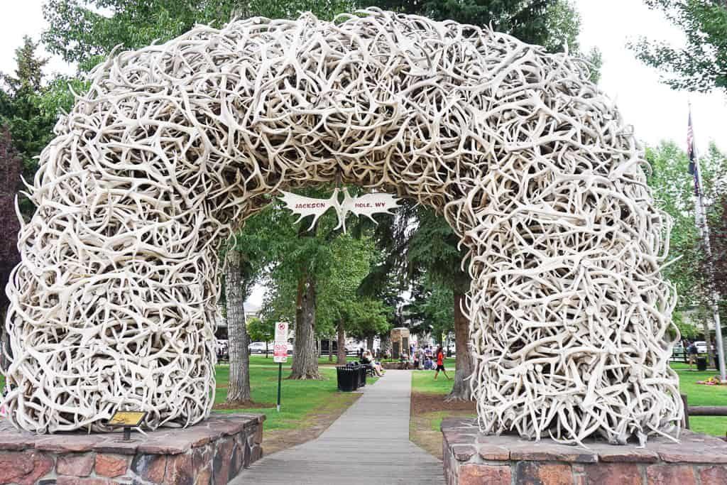 Elk Antler Arch, Jackson Town Square, Jackson Hole, Wyoming - OutsideSuburbia.com