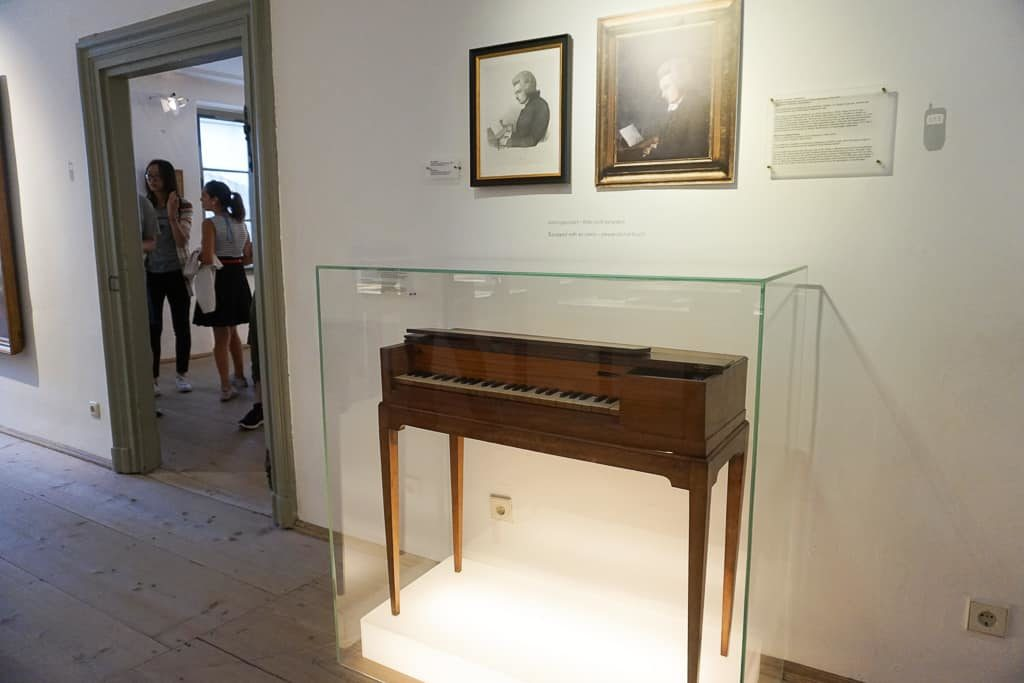 Mozart's piano, One day in Salzburg Itinerary - OutsideSuburbia.com