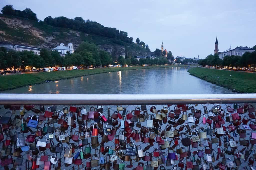 Makartsteg Bridge - One day in Salzburg Itinerary - OutsideSuburbia.com