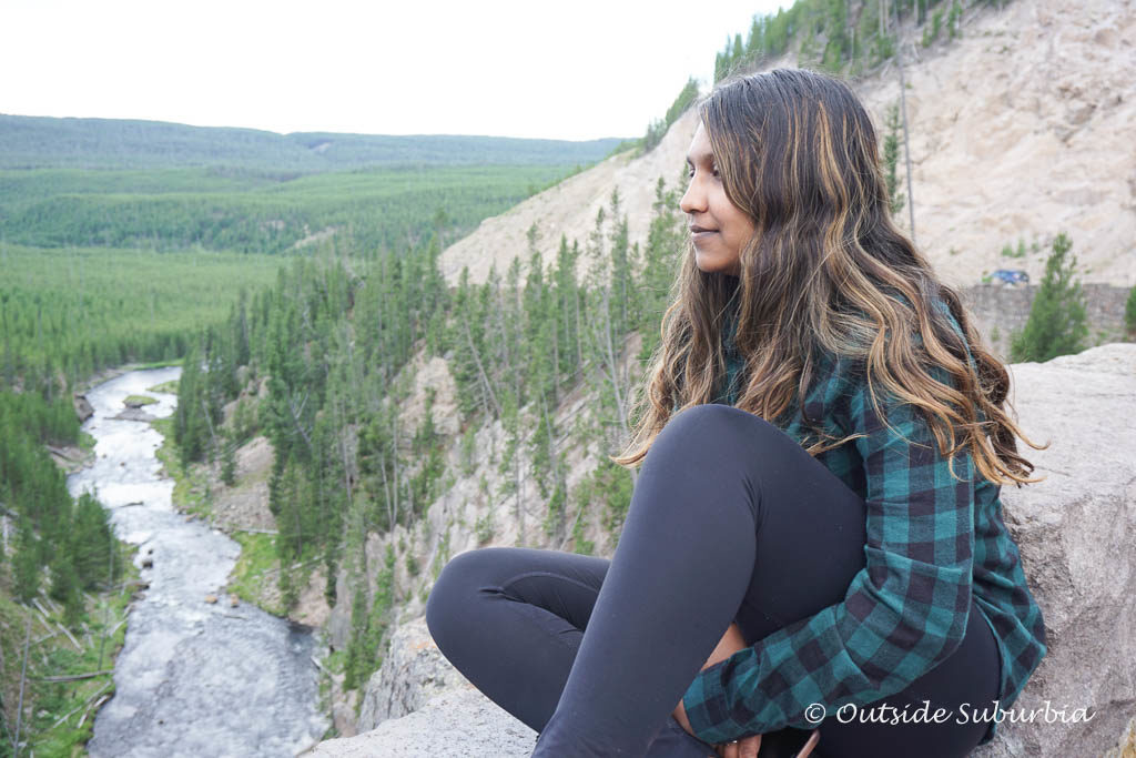 Gibbon Falls viewpoint. Best things to do and see in Yellowstone - OutsideSuburbia.com