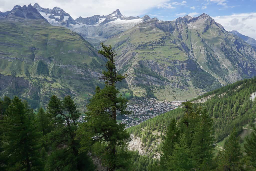 View of the village of Zermatt on the way back from Gornergrat - Outside Suburbia