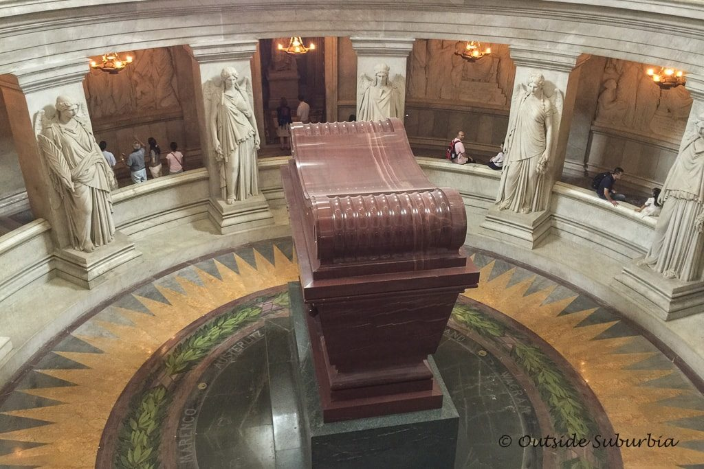 Napolean's Tomb at Invalides -Must sees & Memories of our 3 days in Paris - OutsideSuburbia.com