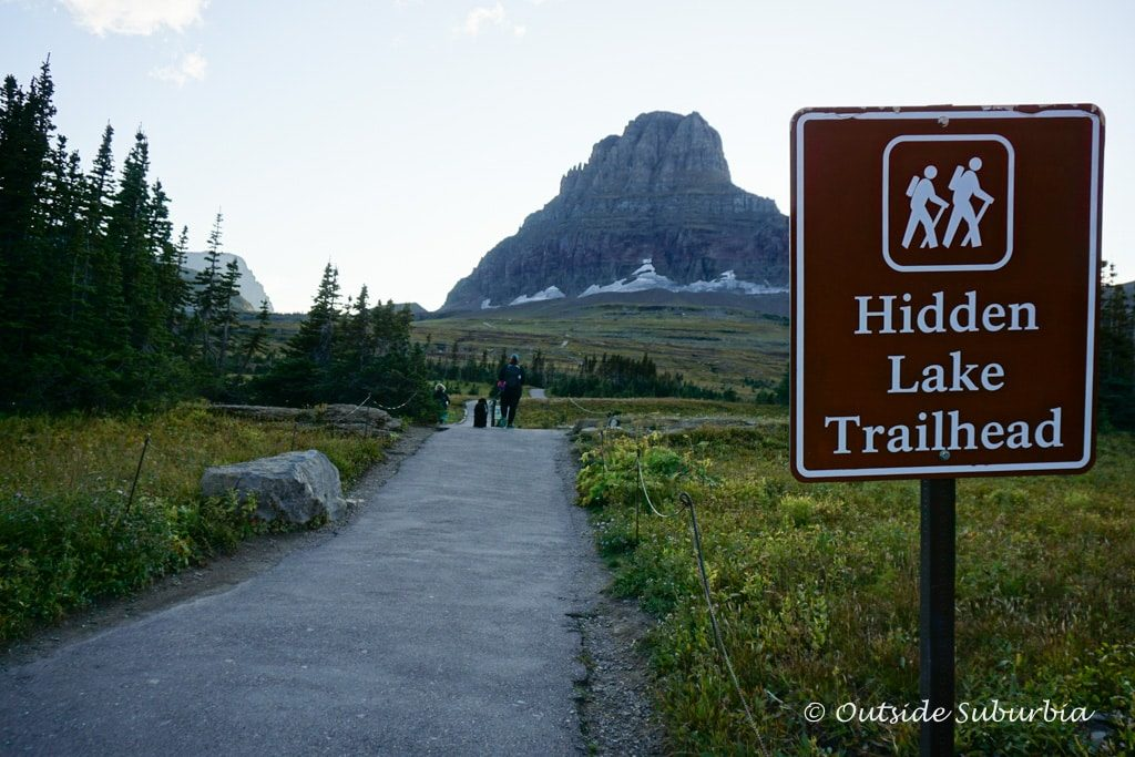 Hidden Lake Trailhead in Glacier National Park