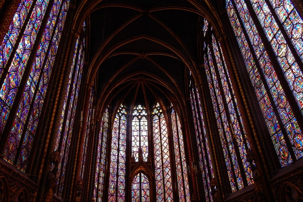 Stained Glass Windows at Sainte Chappelle - Must sees & Memories of our 3 days in Paris - OutsideSuburbia.com