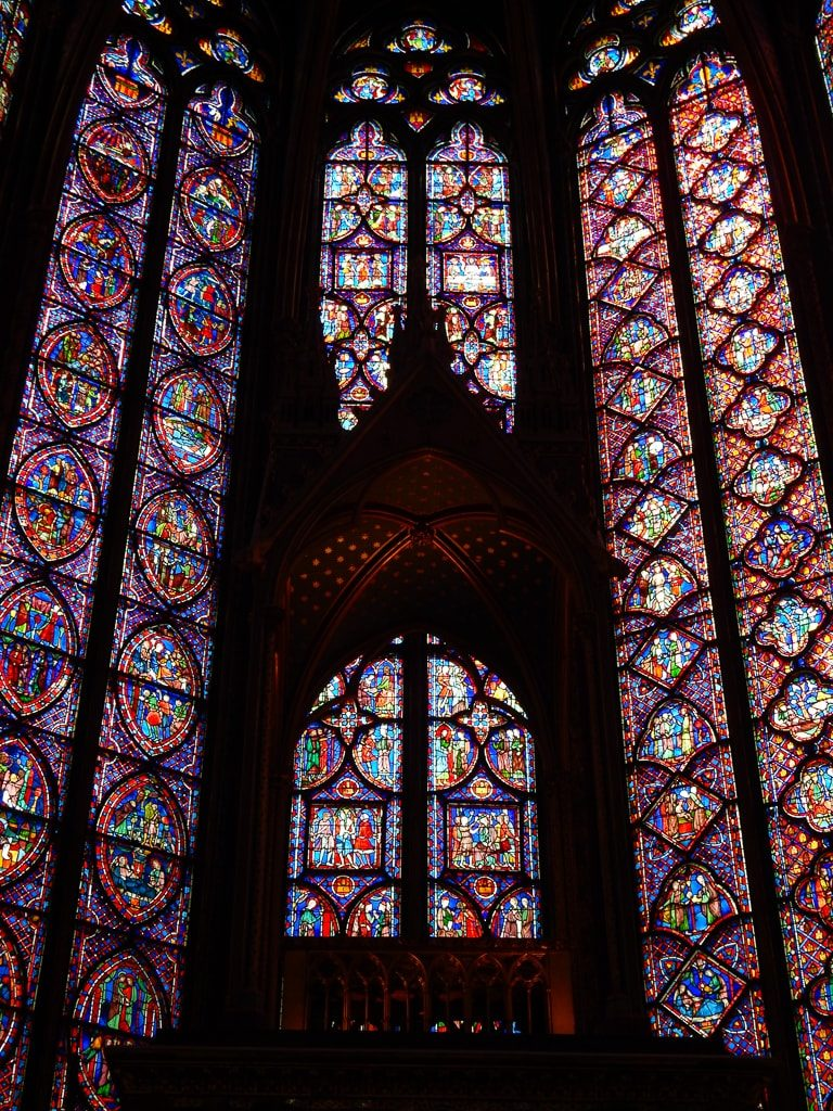 Stained Glass Windows at Sainte Chappelle -Must sees & Memories of our 3 days in Paris - OutsideSuburbia.com