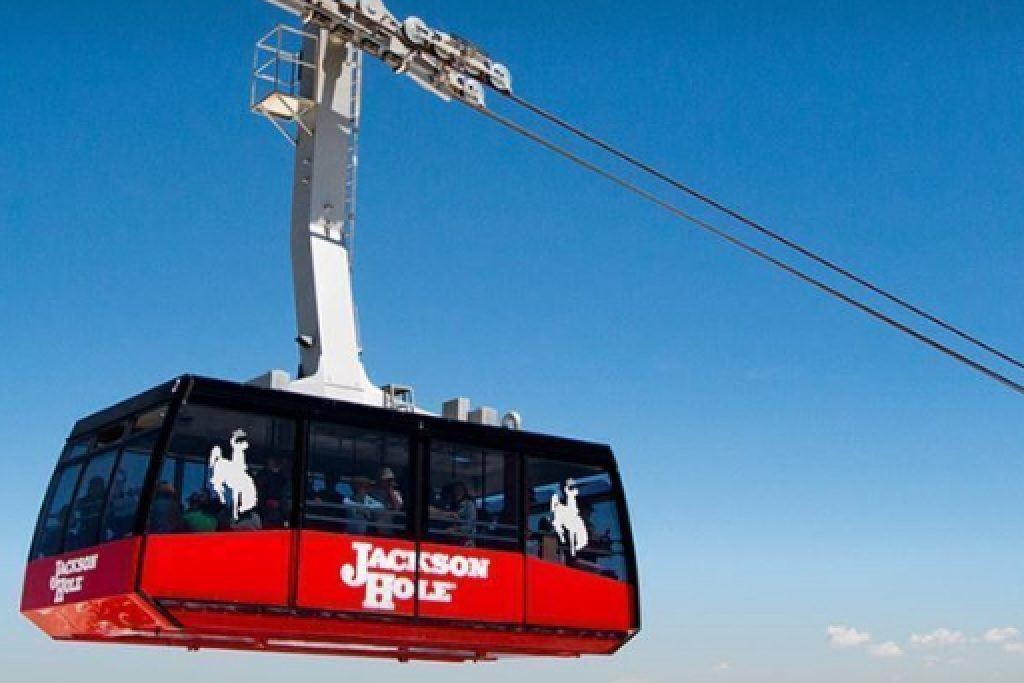 Big Red Tram in Jackson Hole - Things to do in Jackson Hole, Wyoming in Summer and Fall - OutsideSuburbia.com