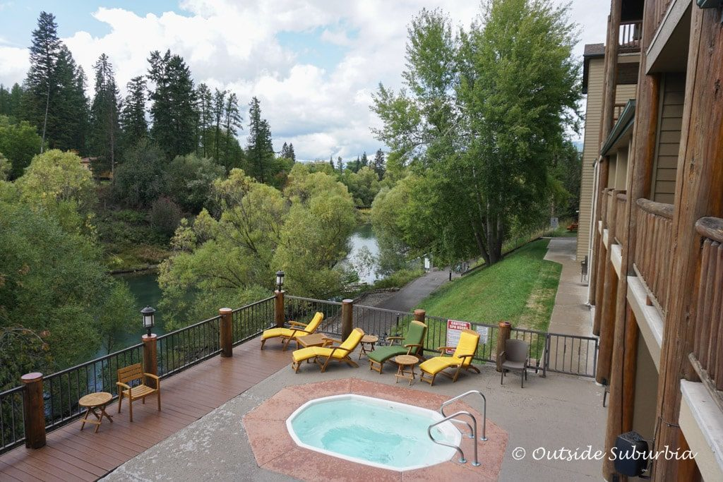Pine Lodge located on the banks of the Whitefish river