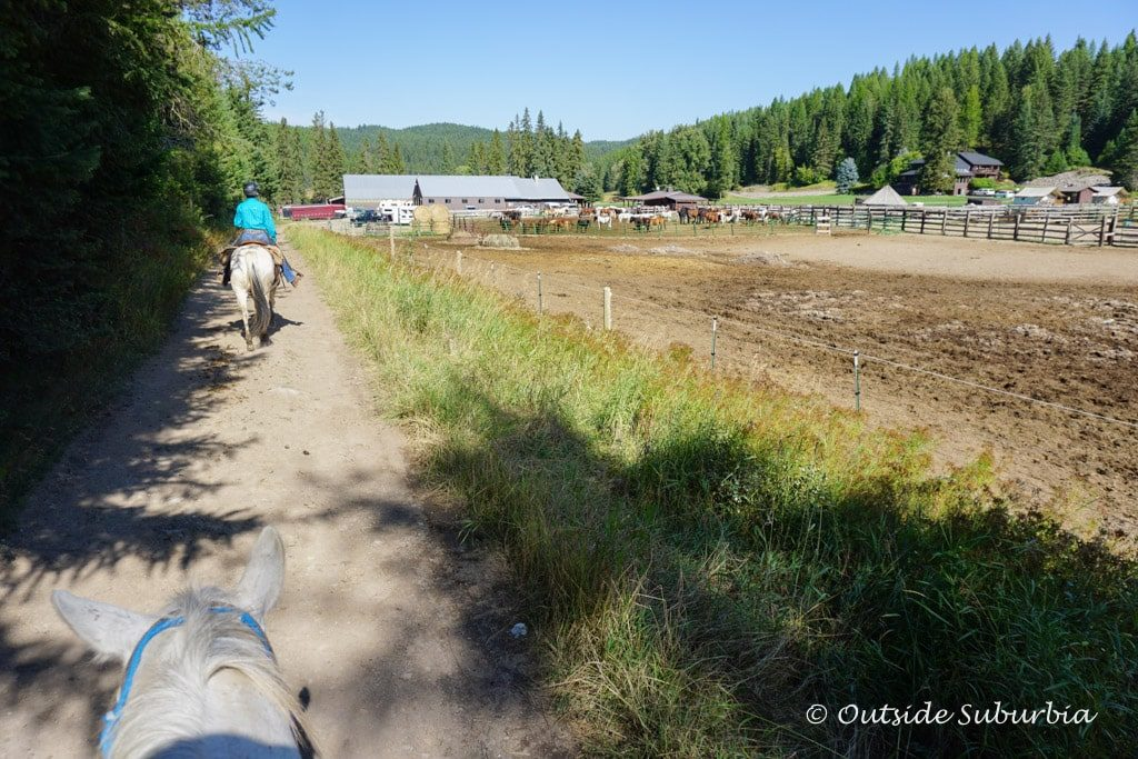 Horseback riding at Bar W Guest Ranch, Montana - OutsideSuburbia.com