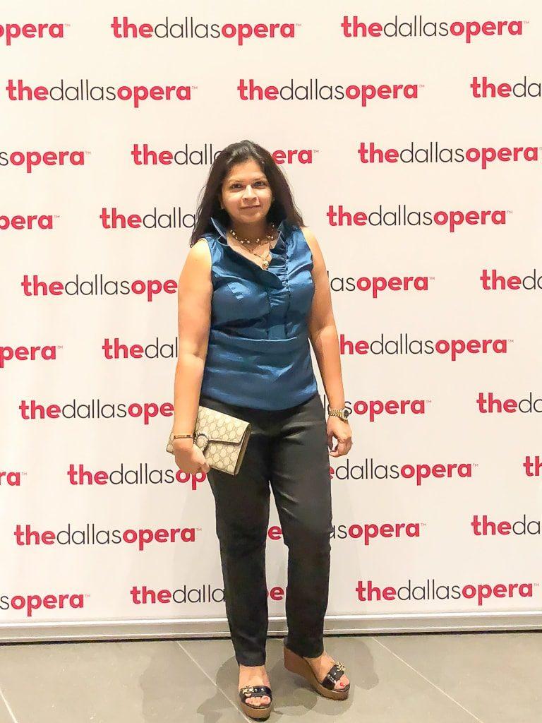 At The Dallas Opera - Priya Vin from Outside Suburbia