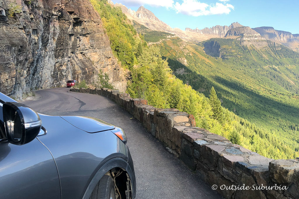 Start of the Going to the Sun road in Glacier National Park