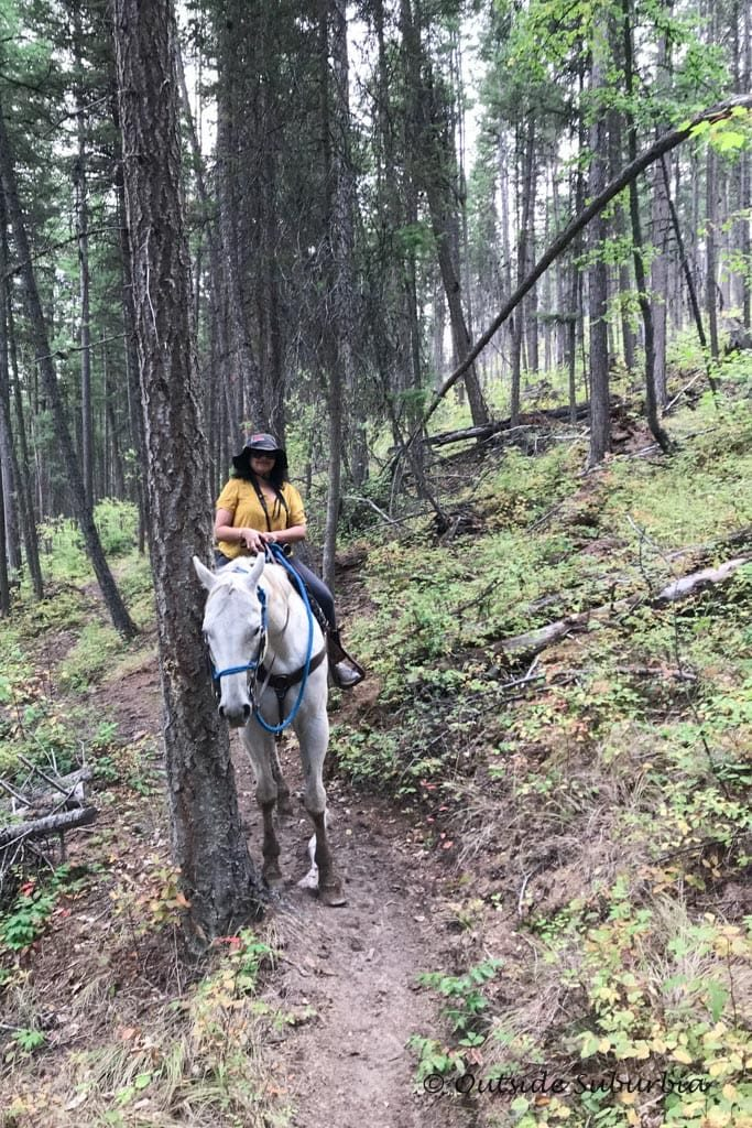 Horseback riding at Whitefish, Montana - OutsideSuburbia.com