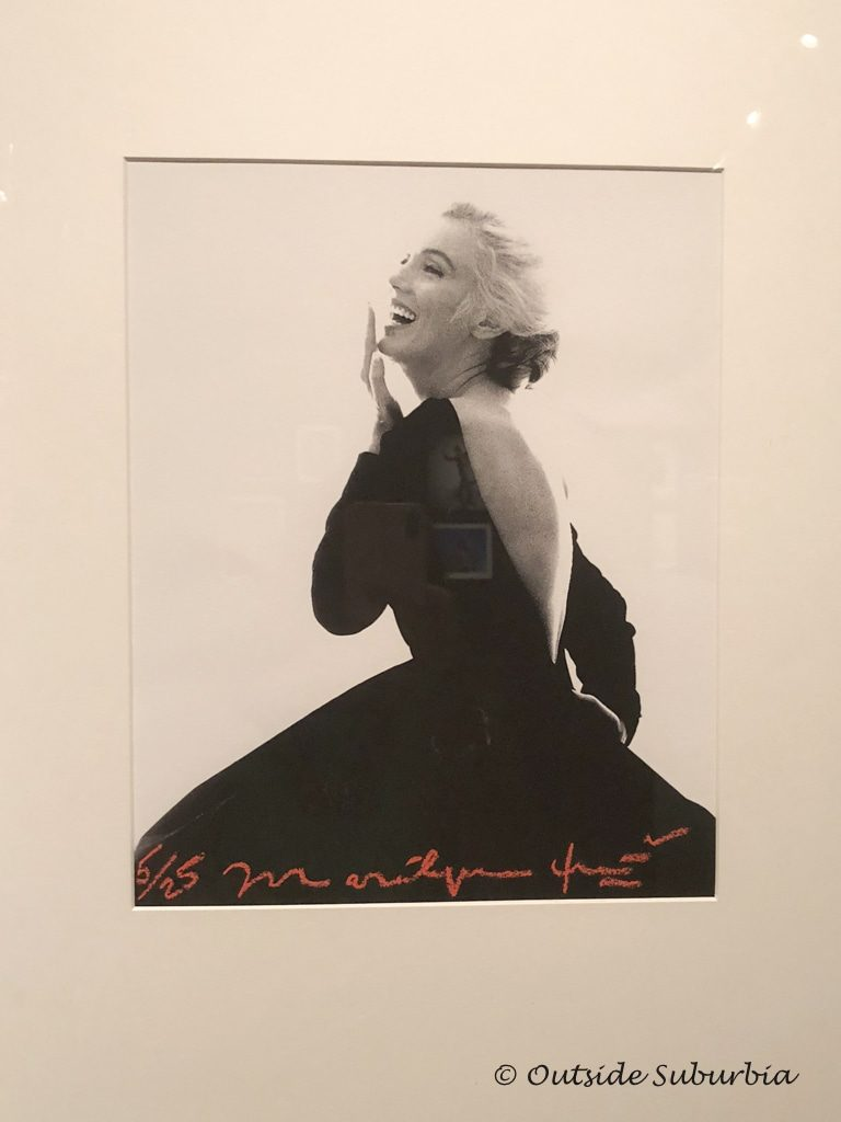 Marilyn Monroe in the famous backless black Dior dress for her final photo shoot