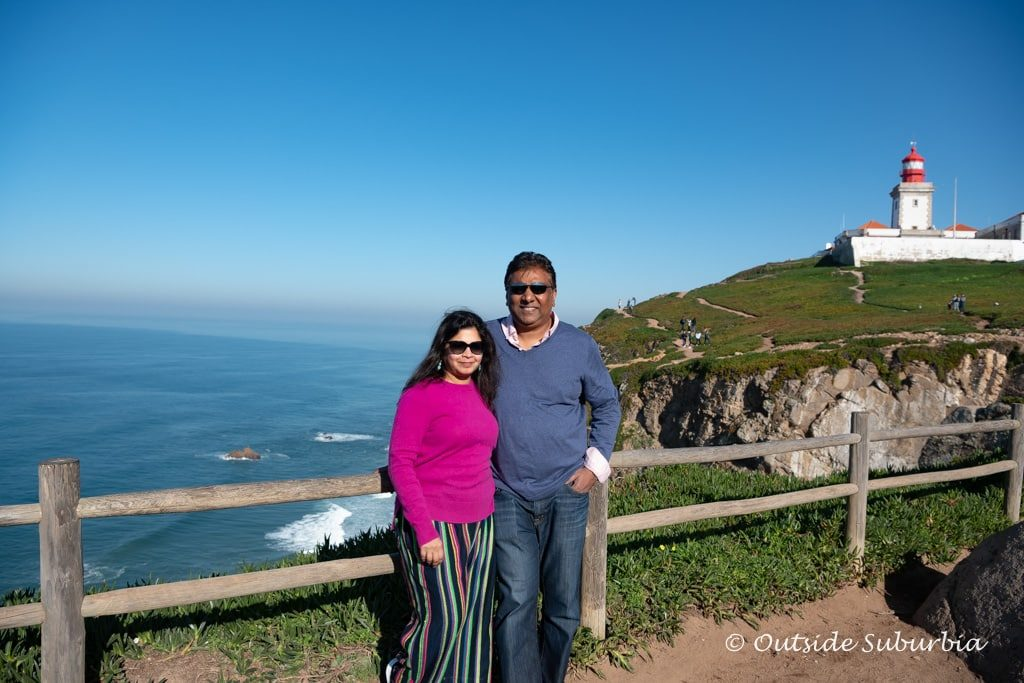 The jagged cliffs of the Cabo da Roca coastline