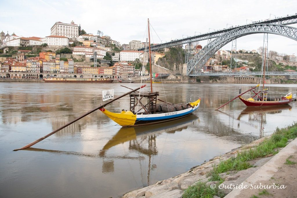 Rabelo boats in Porto, Portugal
