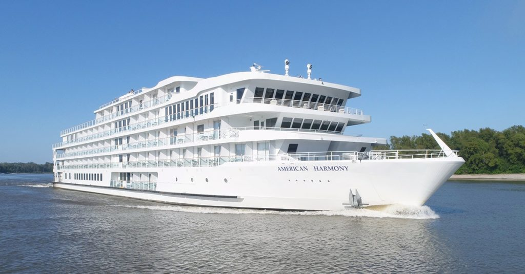 Modern cruise ships from American River Cruise Line fleet