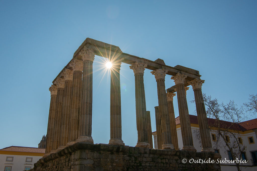 Roman Temple in Evora, Portugal