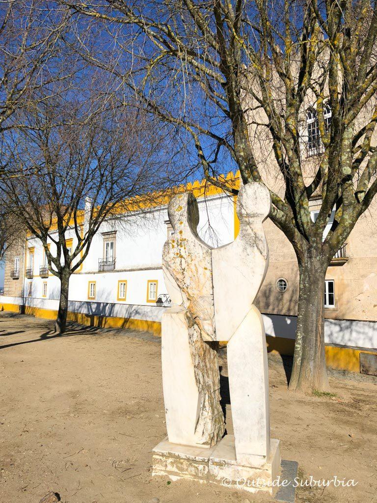 A park in Evora, Portugal