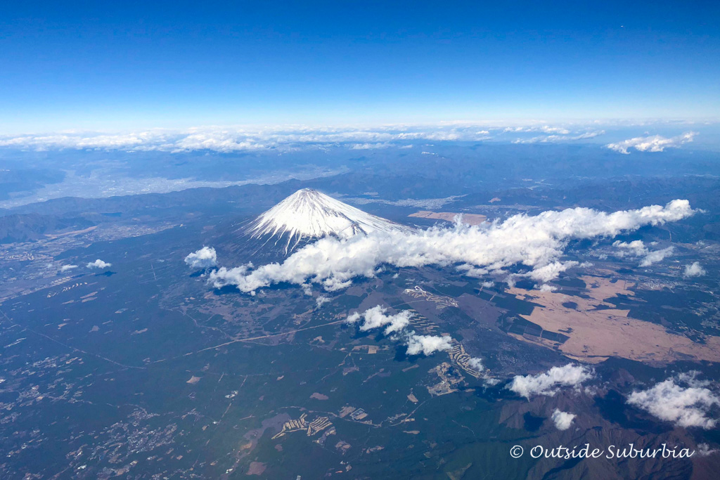 Aerial view of Mt Fuji #FujiSan