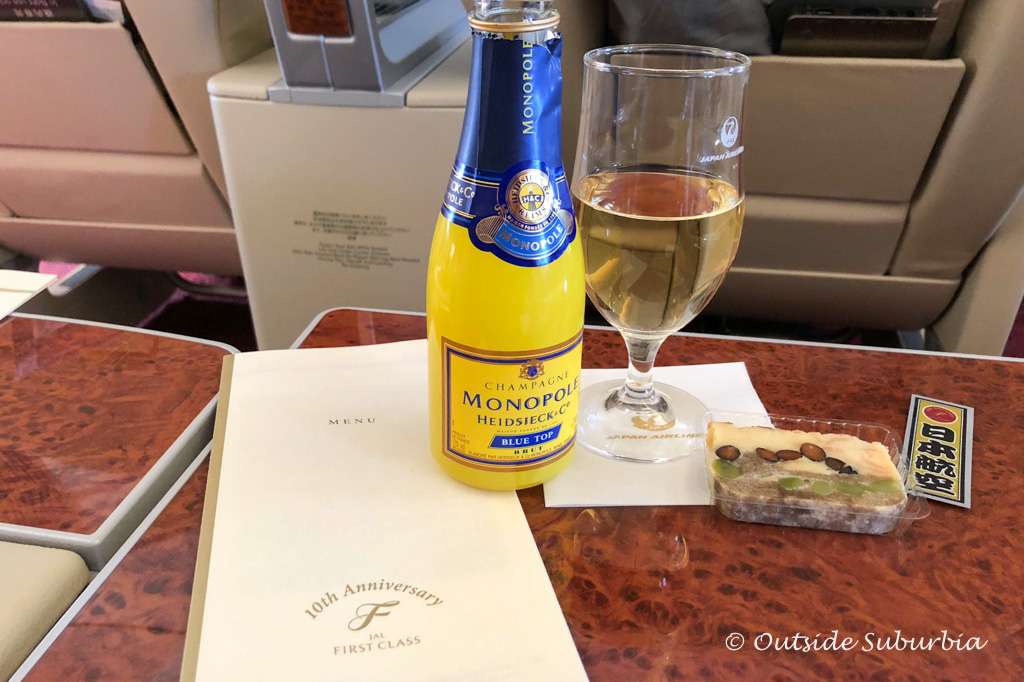 First Class Japan Airlines Review - outsidesuburbia.com