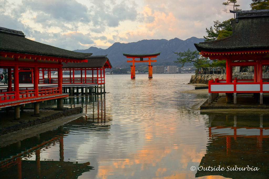Miyajima torii - Two week Japan Itinerary - Photo by Outside Suburbia