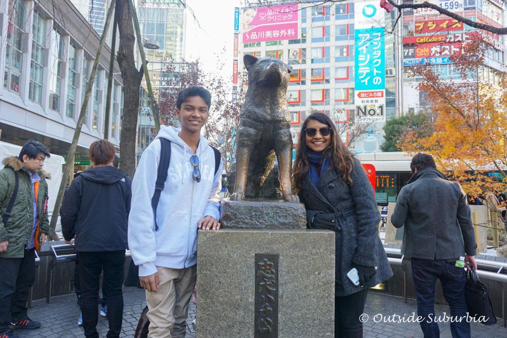Hachi statue in Tokyo