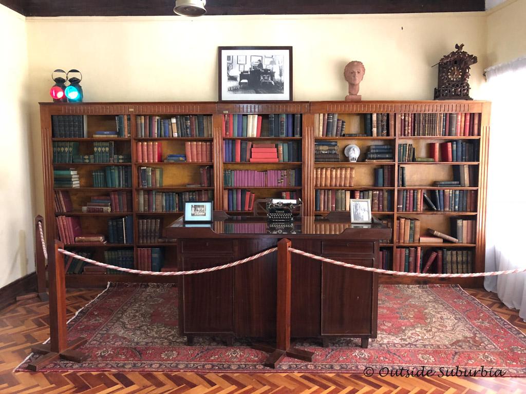 The library at Karen Blixen Museum