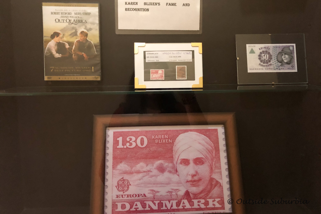Karen Blixen was honored with twice on stamps in Denmark