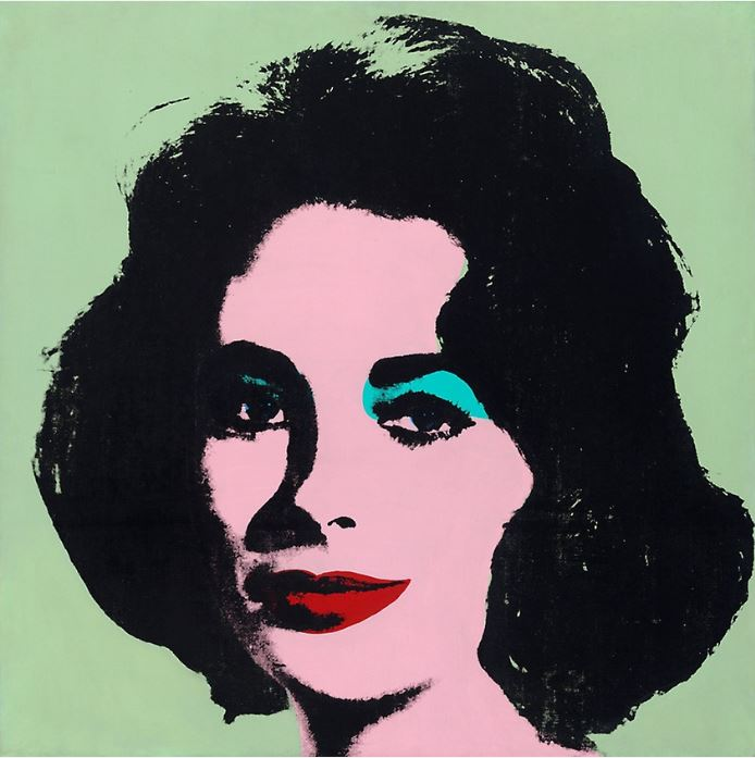 Liz Taylor by Andy Warhol -  virtual museum walk at the Art Institute of Chicago