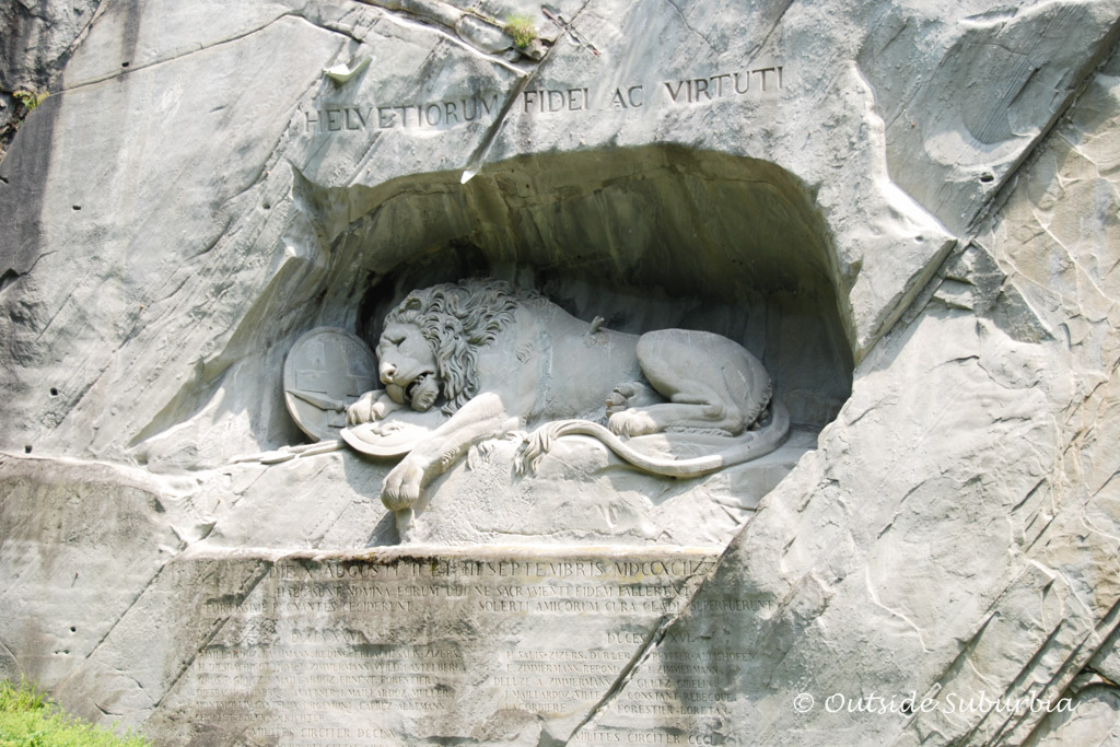 The Lion Monument - Things to do if you have a day in Lucerne, Switzerland