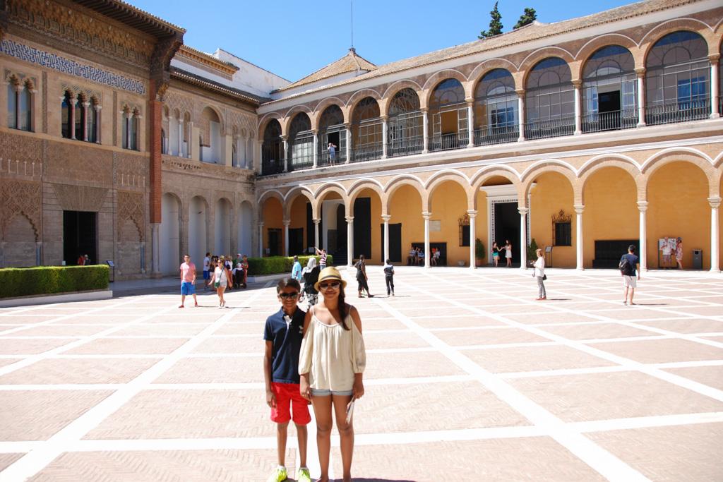 Hunting Courtyard, Inside the Alcazar Entrance