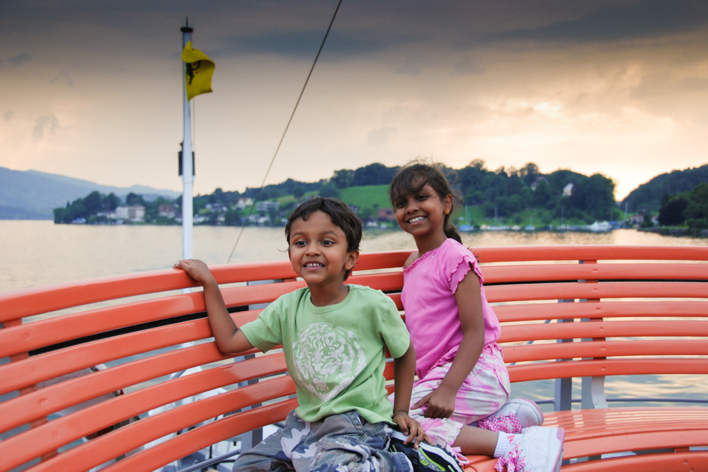 Boat from Mount Rigi to Lucerne