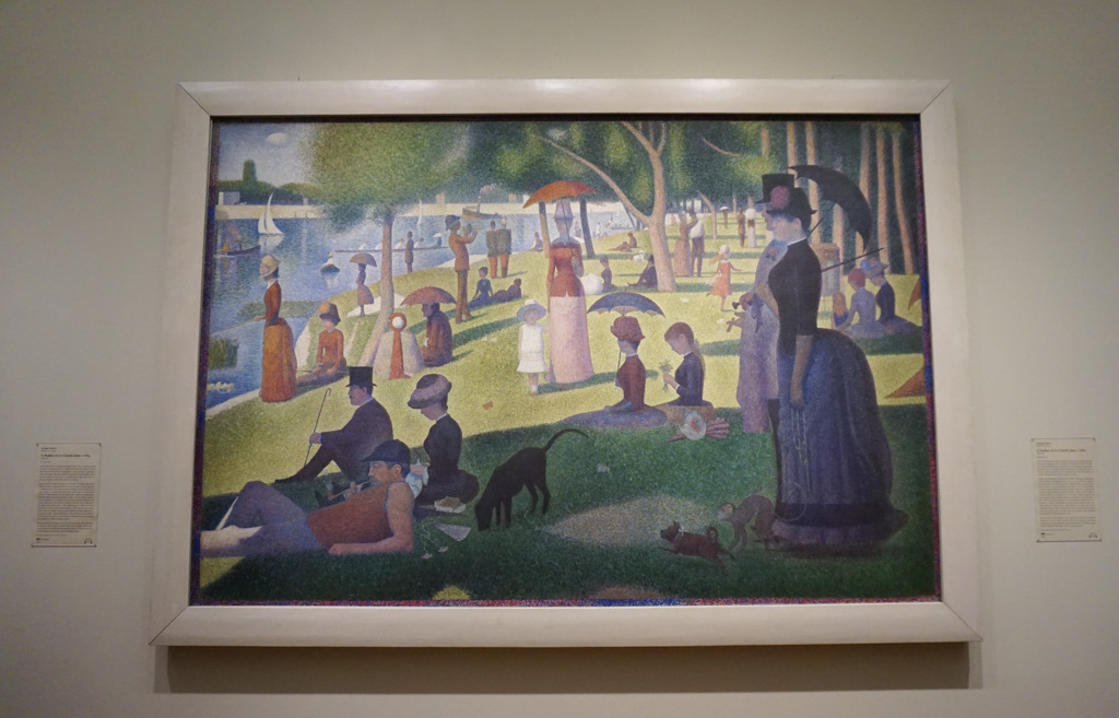 Georges Seurat's greatest work, and one of the most remarkable paintings of the nineteenth century,  A Sunday on La Grande Jatte—1884