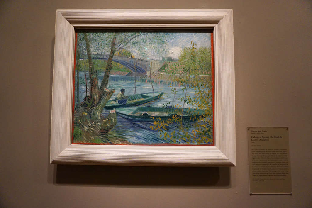 Fishing in Spring, the Pont de Clichy (Asnières) - Artworks by Vincent Van Gogh at Art Institute of Chicago