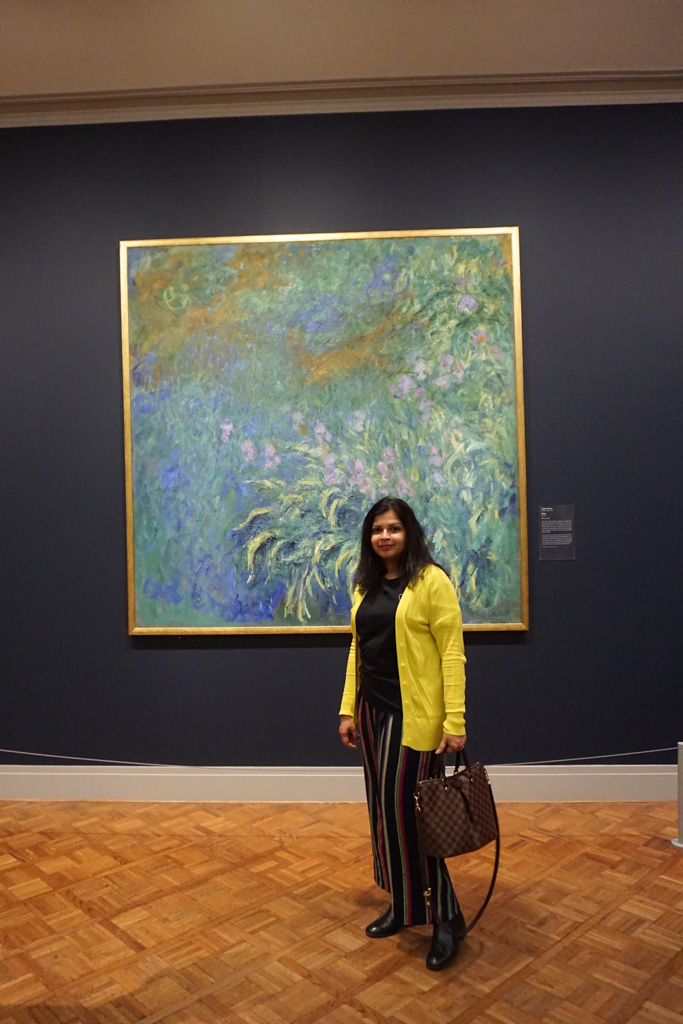 Claude Monet's paintings at the Art Institute of Chicago