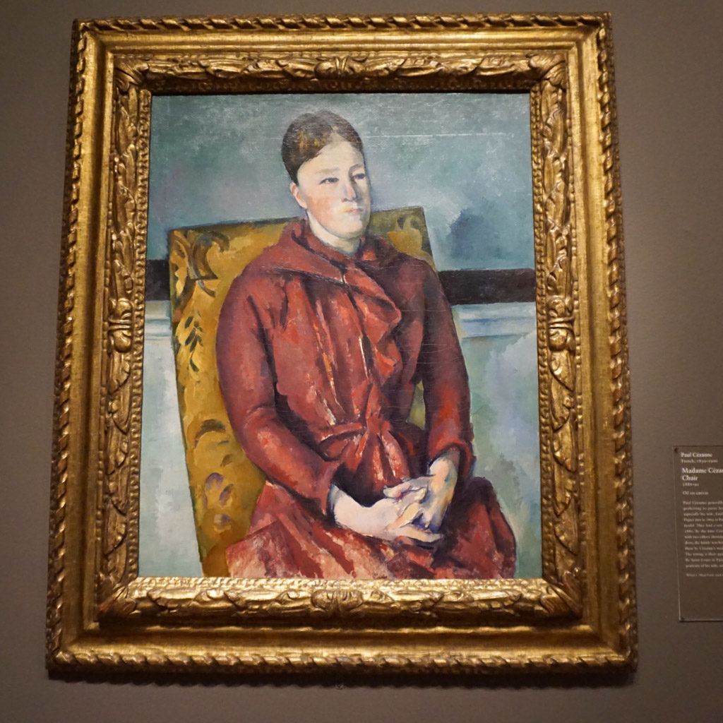 Madame Cézanne in a Yellow Chair -
