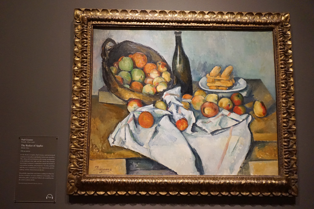 The Basket of Apples - a rare painting signed by the Paul Cezanne