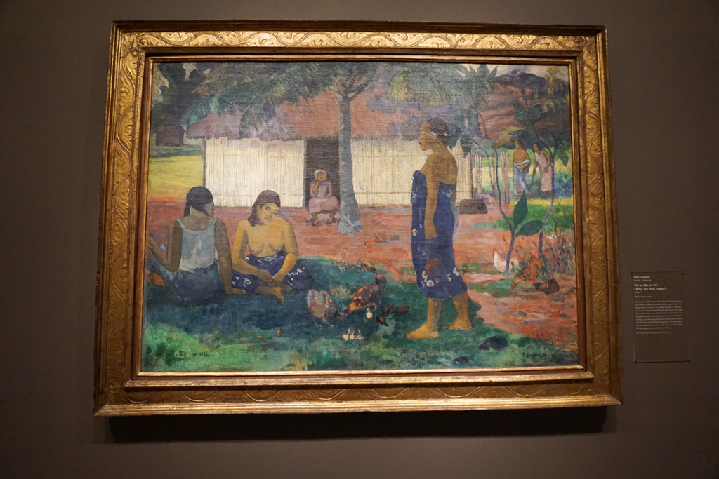 No te aha oe riri (Why Are You Angry?) - Paul Gauguin at the Art Institute of Chicago
