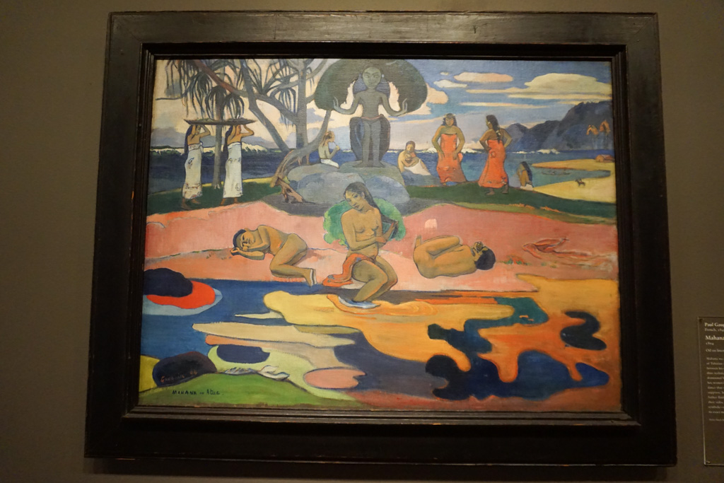 Mahana no atua (Day of the God) - Paul Gauguin at the Art Institute of Chicago
