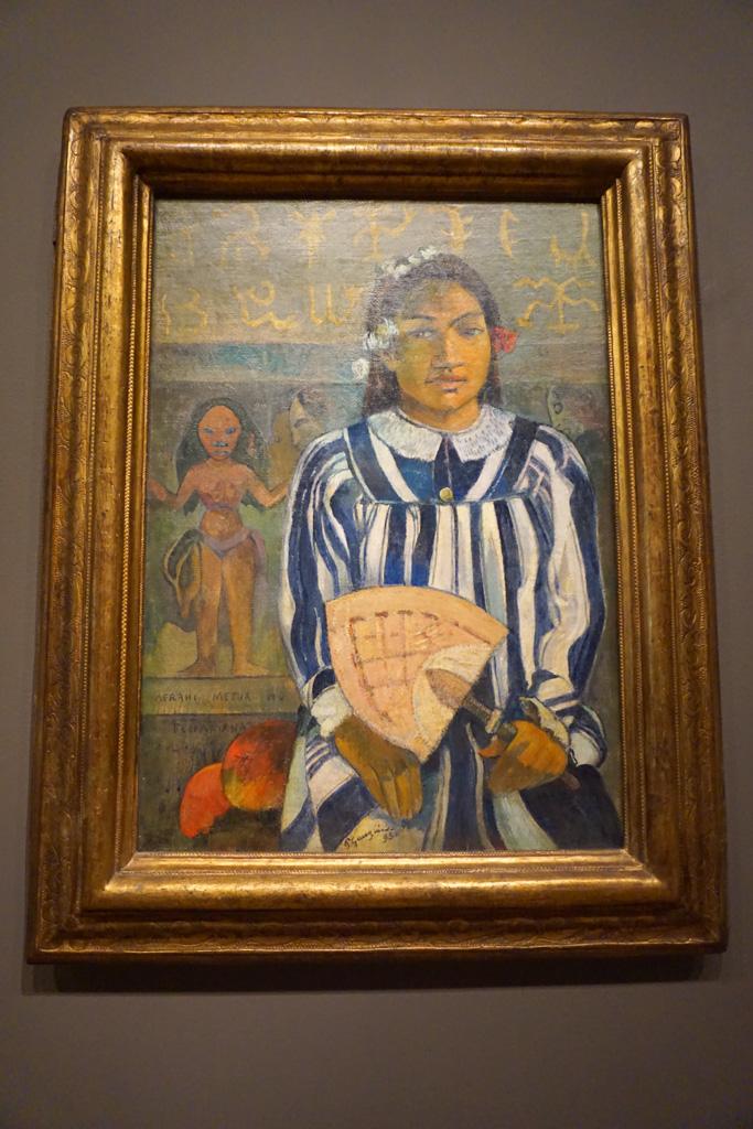 Merahi metua no Tehamana (Tehamana Has Many Parents or The Ancestors of Tehamana) - Paul Gauguin at the Art Institute of Chicago