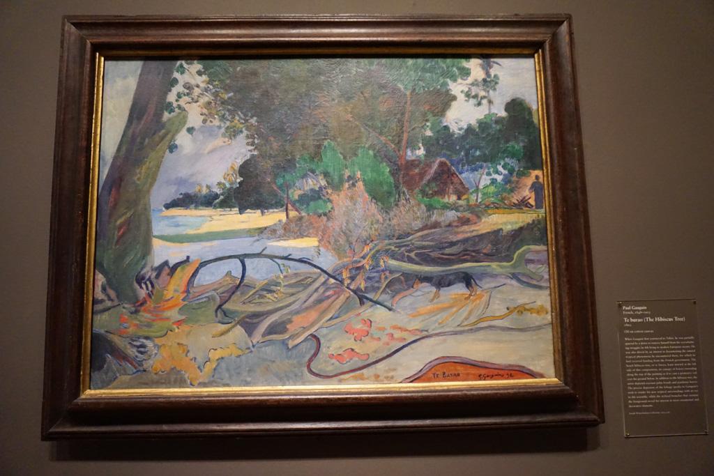 Te burao (The Hibiscus Tree) - Paul Gauguin at the Art Institute of Chicago