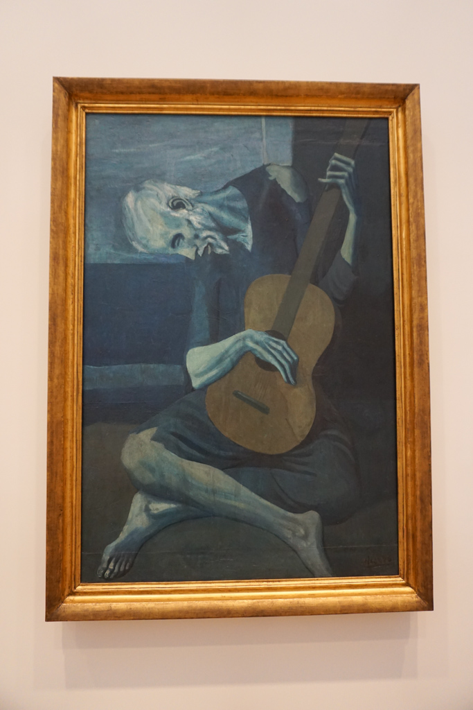 The Old Guitarist by Pablo Picasso (Blue Period)