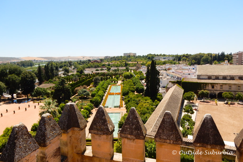 View from the roof of The Alcázar, Cordoba