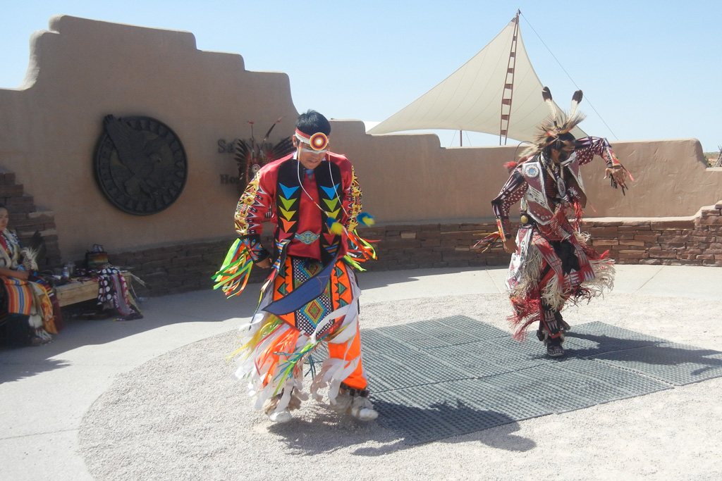 A Native American performance at the Hualapai Ranch in Grand Canyon